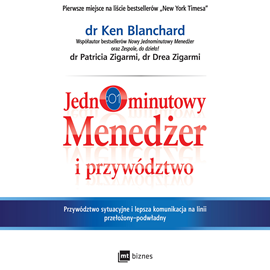 okładka Jednominutowy Menedżer i przywództwoaudiobook | MP3 | Ken Blanchard
