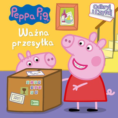 okładka Peppa Pig Odkryj i czytaj Ważna przesyłka, Książka   Opracowanie zbiorowe