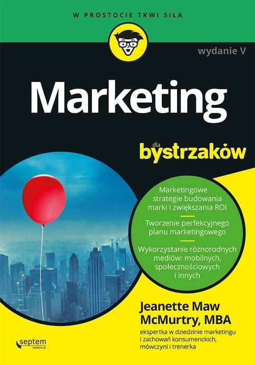 okładka Marketing dla bystrzaków, Książka | McMurtry Jeanette