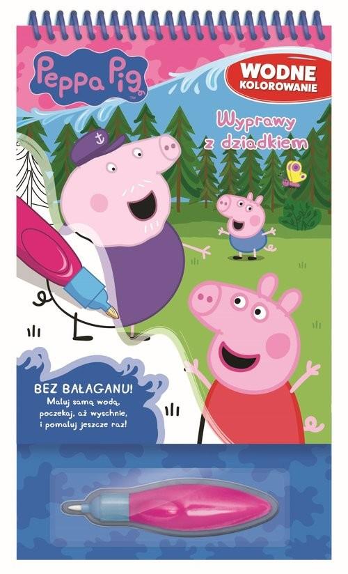 okładka Peppa Pig Wodne kolorowanie 4 Wyprawy z dziadkiem, Książka   Opracowanie zbiorowe