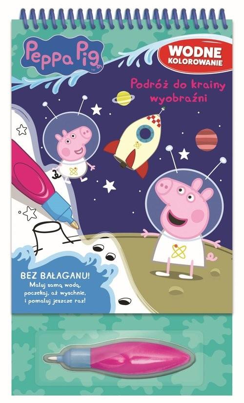 okładka Peppa Pig Wodne kolorowanie część 5 Podróż do krainy wyobraźniksiążka      Opracowanie zbiorowe