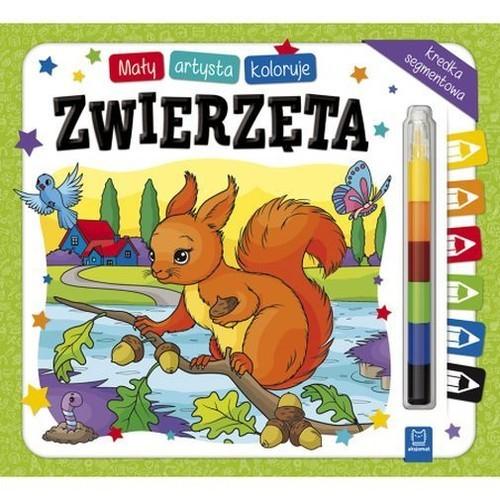 okładka Mały artysta koloruje zwierzęta + kredka segmentowa, Książka | Kajdana Sylwia