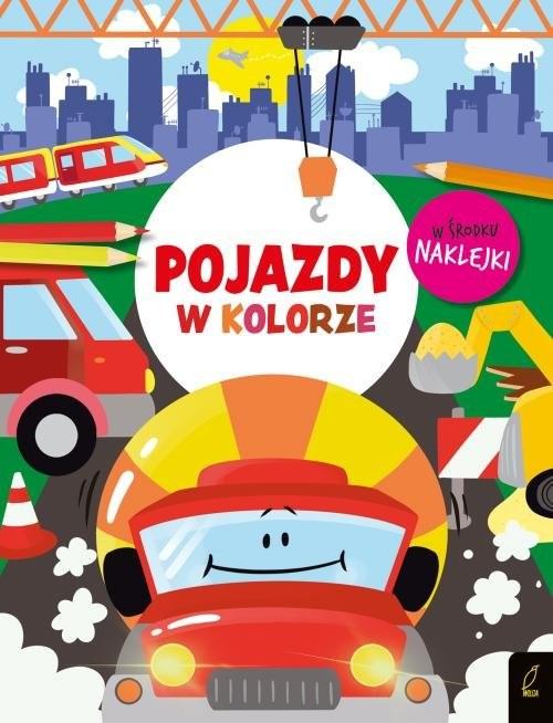 okładka W kolorze Pojazdy, Książka |