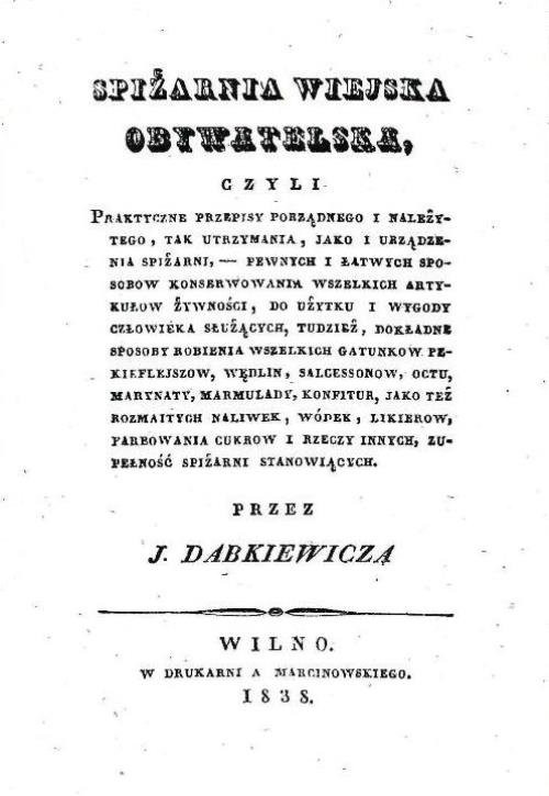 okładka Spiżarnia wiejska obywatelska, Książka | Dąbkiewicz J.