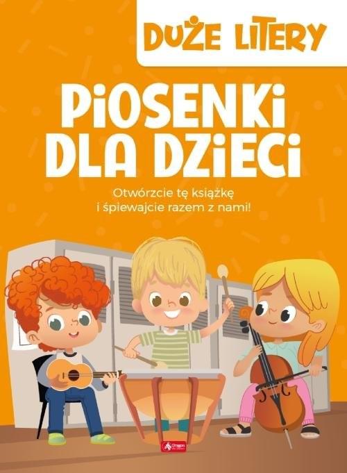 okładka Piosenki dla dzieci Duże litery, Książka | null null