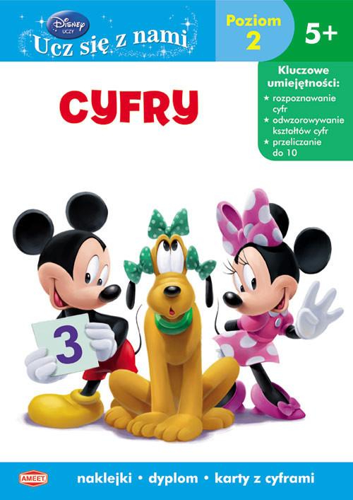 okładka Disney Ucz się z nami Cyfry Poziom 2 UDB-3 Klub Przyjaciół Myszki Miki 5+, Książka |