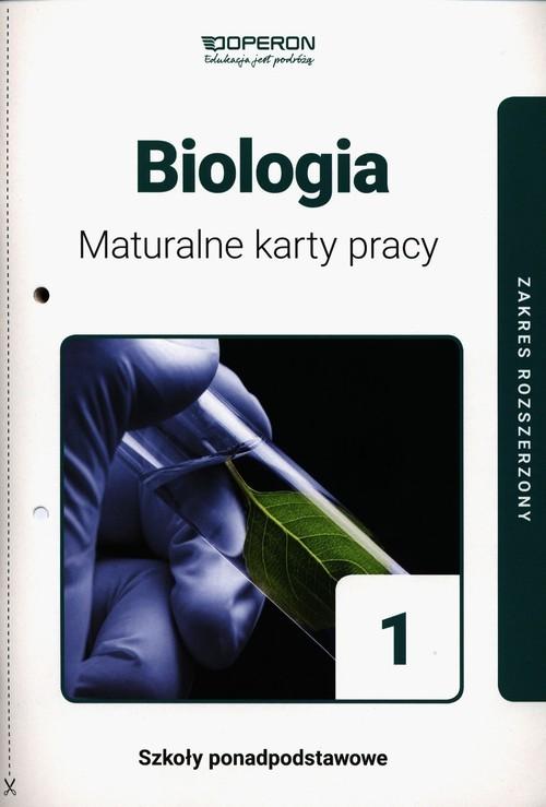 okładka Biologia 1 Maturalne karty pracy Zakres rozszerzony Szkoła ponadpodstawowa, Książka | Kaczmarek Dawid