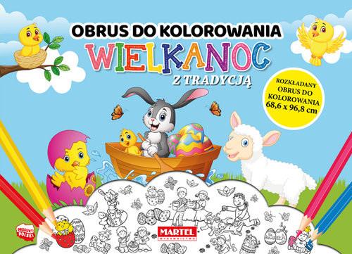 okładka Wielkanoc z tradycją - obrus do kolorowania, Książka | Aleksandra Adamska-Rzepka