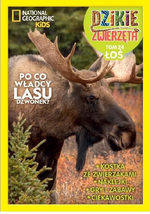 okładka Dzikie Zwierzęta Tom 24 Łoś, Książka |