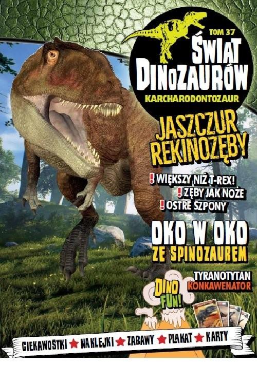 okładka Świat Dinozaurów Tom 37 Karcharodontozaur, Książka |