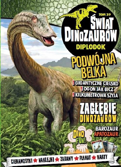 okładka Świat Dinozaurów. 39 DIPLODOK, Książka  