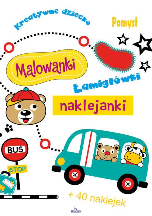 okładka Malowanki naklejanki, Książka | Grzankowska Ewelina