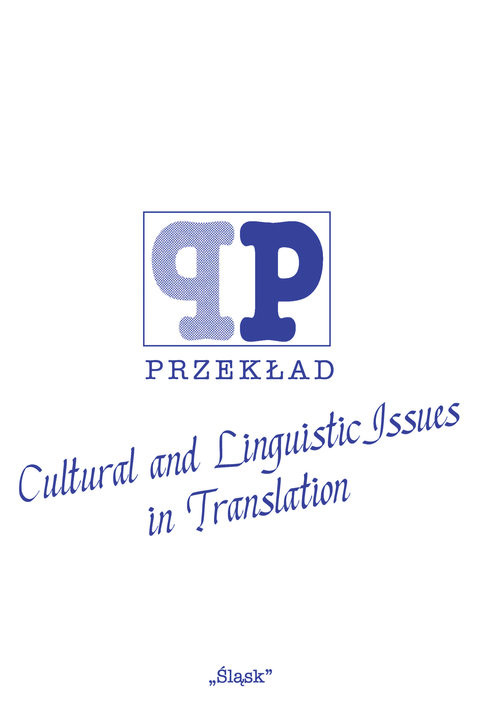 Cultural and Linguistic Issues in Translation ( Nr 46)
