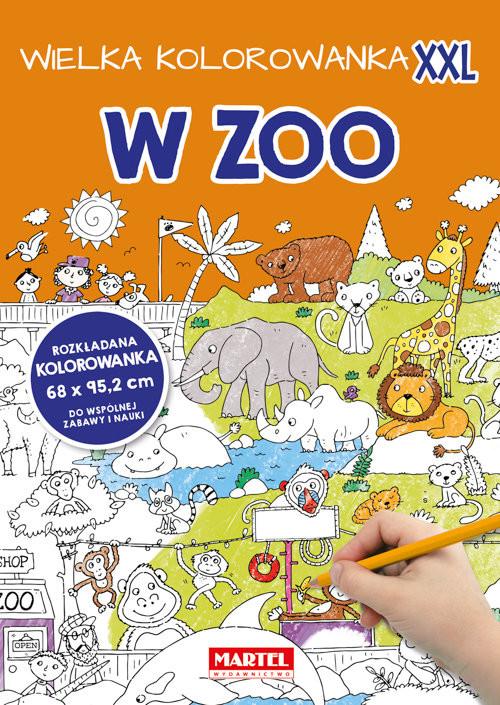 okładka Wielka kolorowanka XXL - W Zoo, Książka | Praca Zbiorowa
