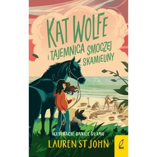 okładka Kat Wolfe i tajemnica smoczej skamieliny Tom 2, Książka | Lauren St John