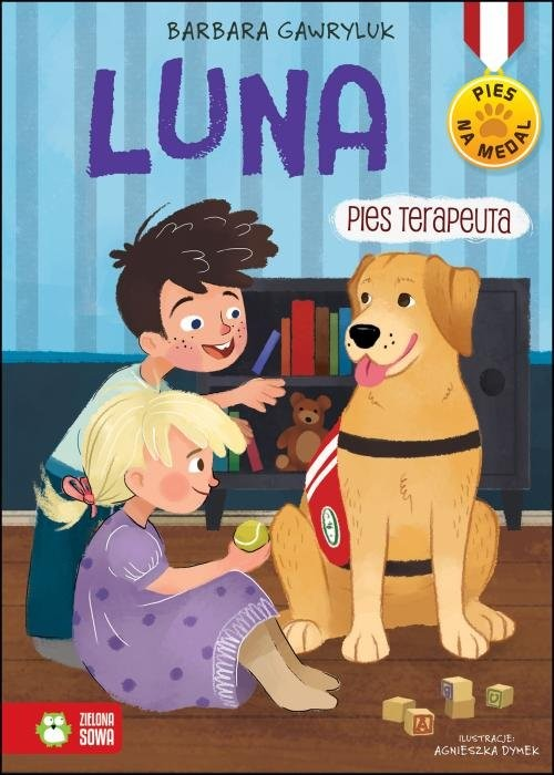 okładka Pies na medal Luna pies terapeuta, Książka | Barbara  Gawryluk