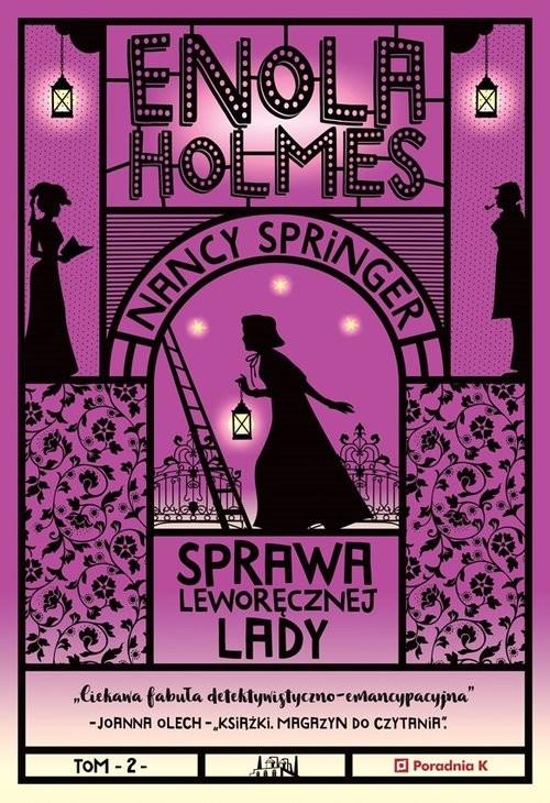 okładka Enola Holmes Tom 2 Sprawa Leworęcznej Lady, Książka | Springer Nancy