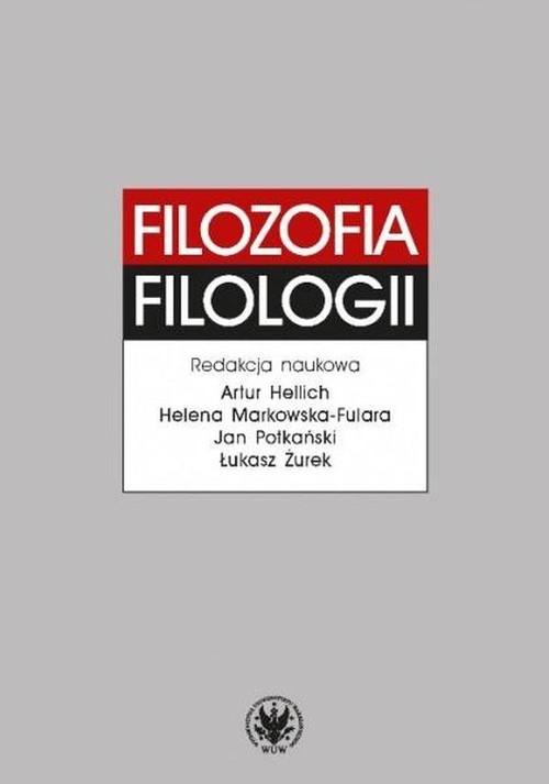 okładka Filozofia filologii, Książka |