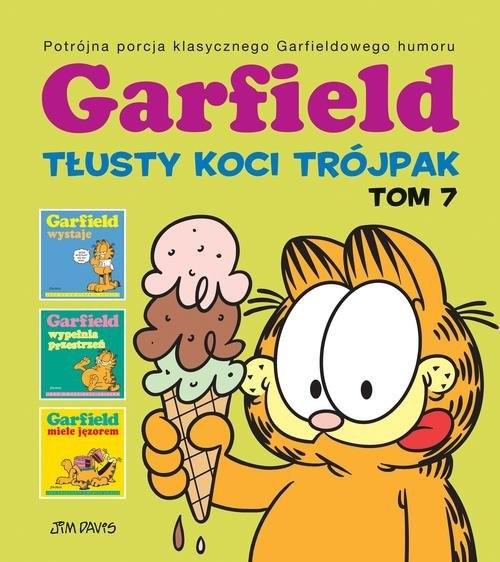 okładka Garfield Tłusty koci trójpak Tom 7, Książka | Davis Jim
