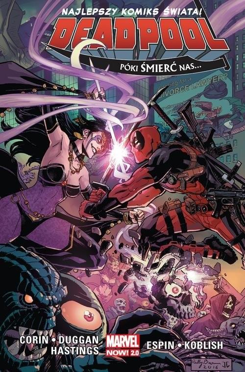 okładka Deadpool T.8 Póki śmierć nas, Książka   Joshua Corin, Gerry Duggan, Christopher Hastings