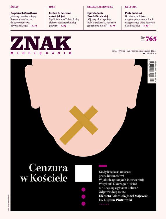 okładka ZNAK 765 2/2019: Cenzura w Kościele, Książka |