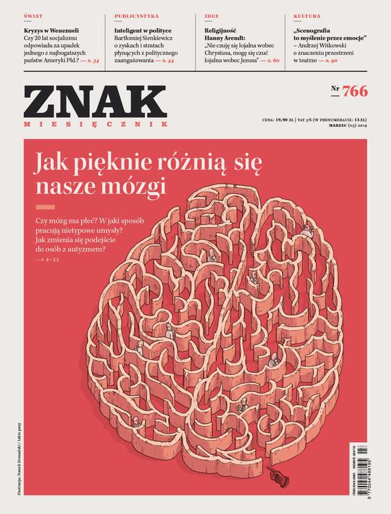okładka ZNAK 766 3/2019: Jak pięknie różnią się nasze mózgi, Książka  