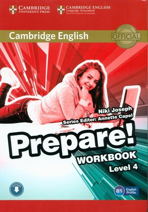 okładka Prepare! 4 Workbook with Audio, Książka   Joseph Niki