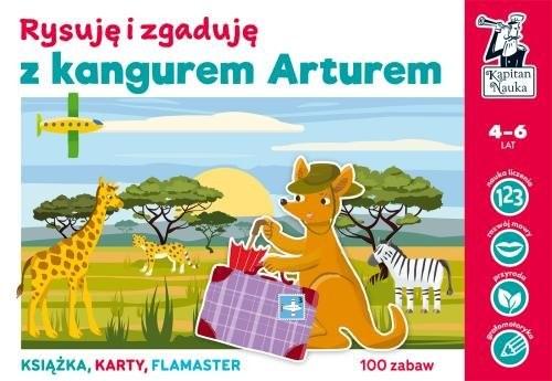 okładka Kapitan Nauka Rysuję i zgaduję z kangurem Arturem, Książka | Bożena Dybowska, Anna Grabek