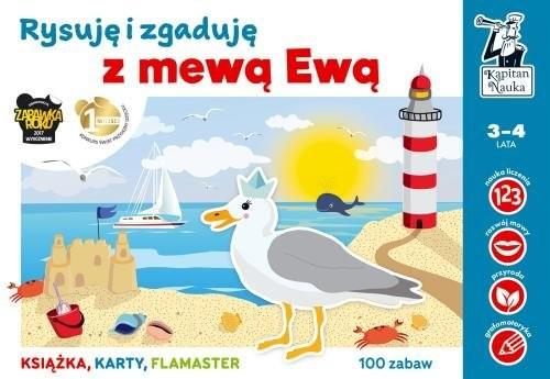 okładka Kapitan Nauka Rysuję i zgaduję z mewą Ewą, Książka | Bożena Dybkowska, Anna Grabek