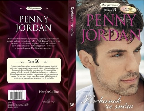 okładka Mistrzyni Romansu t.56 Kochanek ze snów, Książka | Penny Jordan