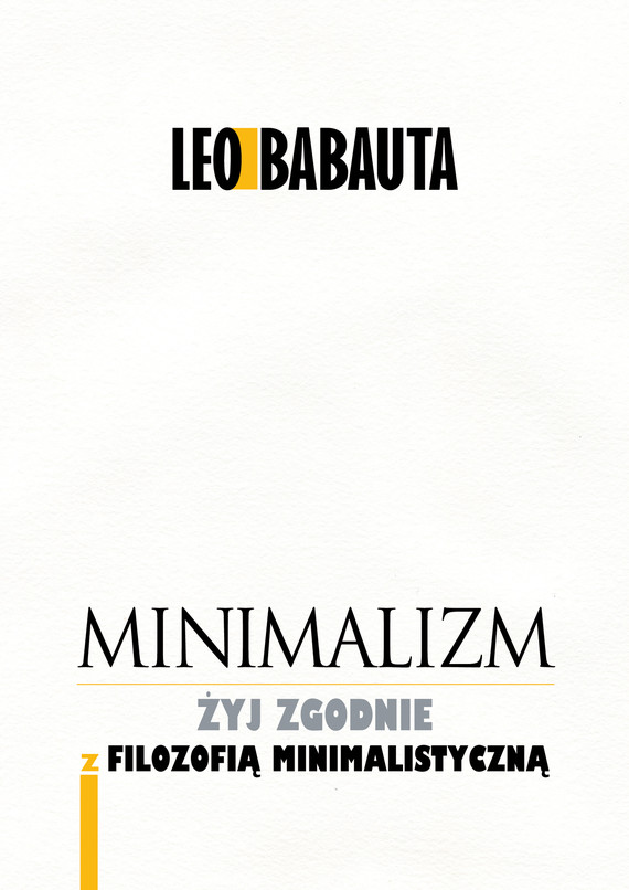 okładka Minimalizmaudiobook | MP3 | Leo Babauta
