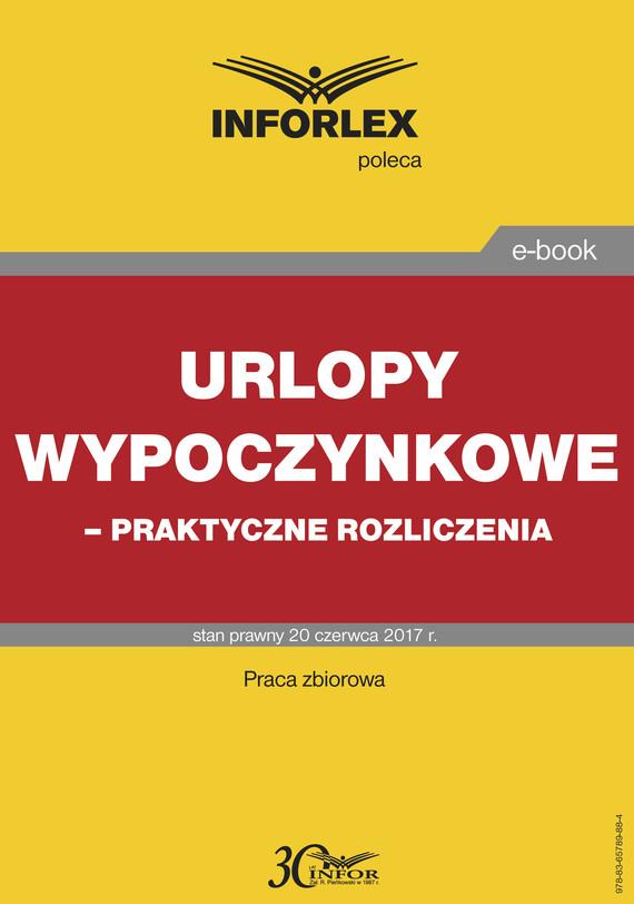 okładka Urlopy wypoczynkowe – praktyczne rozliczenia, Ebook | INFOR PL SA