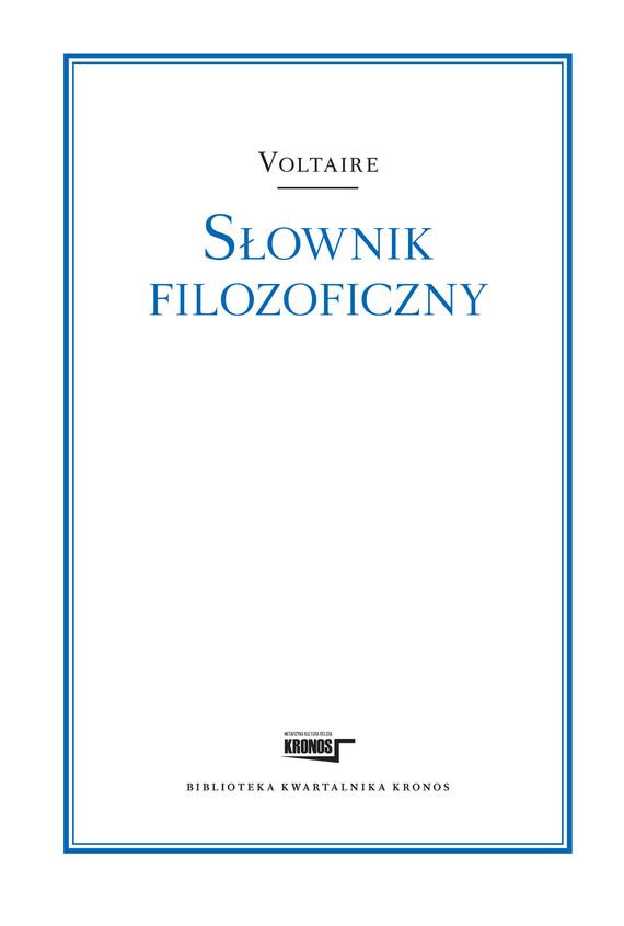 okładka Słownik filozoficznyebook | epub, mobi | Voltaire Voltaire, Marian Skrzypek - przekład i wstęp