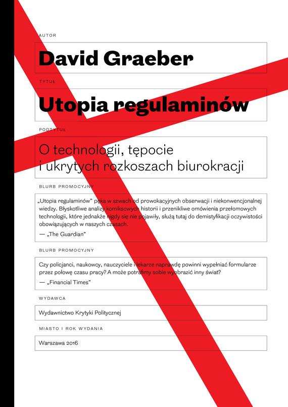okładka Utopia regulaminówebook | epub, mobi | David  Graeber