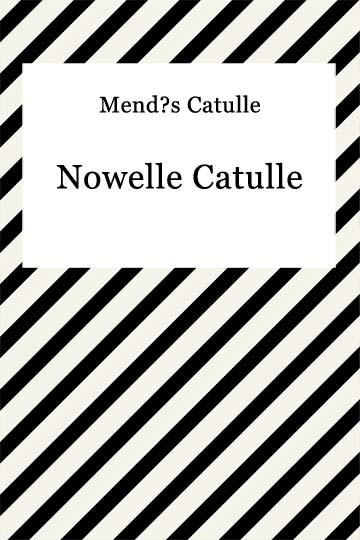okładka Nowelle Catulleebook | epub, mobi | Catulle Mendes