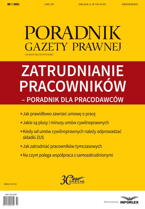 okładka ZATRUDNIANIE PRACOWNIKÓW – PORADNIK DLA PRACODAWCÓW, Ebook | INFOR PL SA