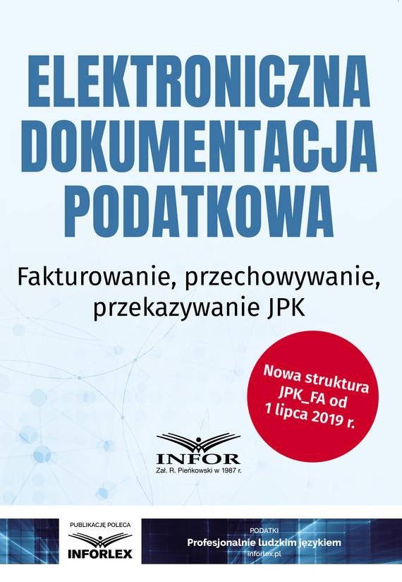 okładka Elektroniczna dokumentacja podatkowaebook   pdf   praca  zbiorowa