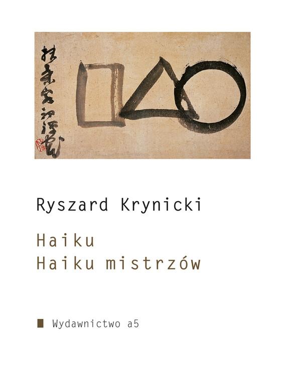 okładka Haiku. Haiku mistrzówebook | epub, mobi | Ryszard Krynicki