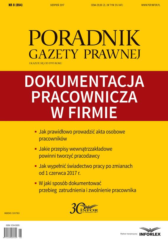 okładka Dokumentacja pracownicza w firmie, Ebook | Praca zbiorowa