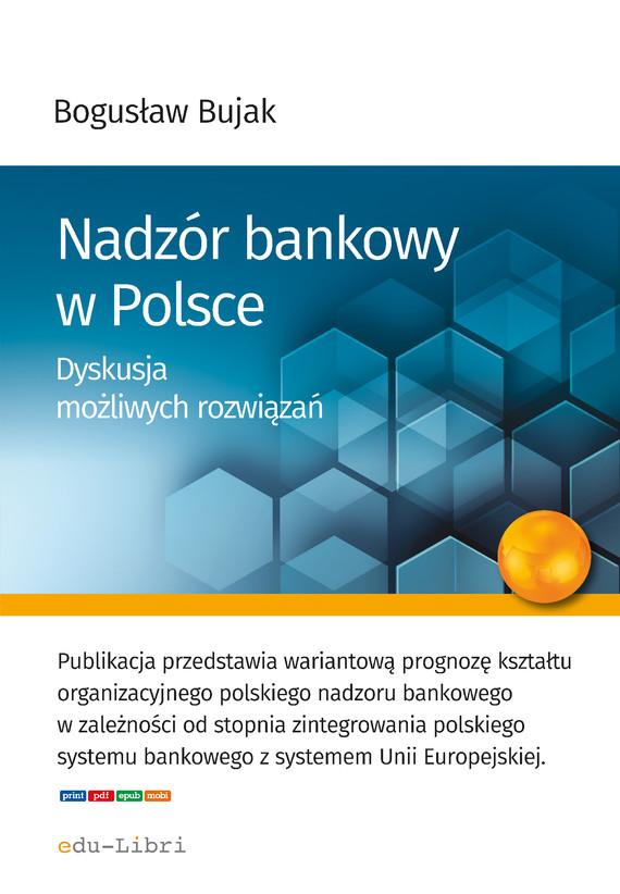 okładka Nadzór bankowy w Polsceebook | epub, mobi | Bogusław Bujak