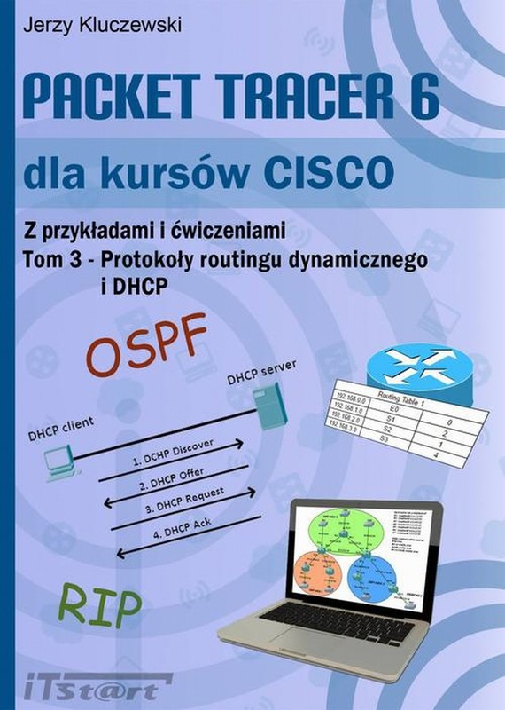 okładka Packet Tracer 6 dla kursów CISCO TOM 3, Ebook | Jerzy  Kluczewski