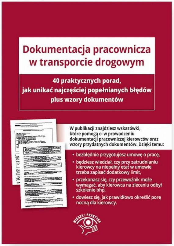 okładka Dokumentacja pracownicza w transporcie drogowym, Ebook | Praca Zbiorowa