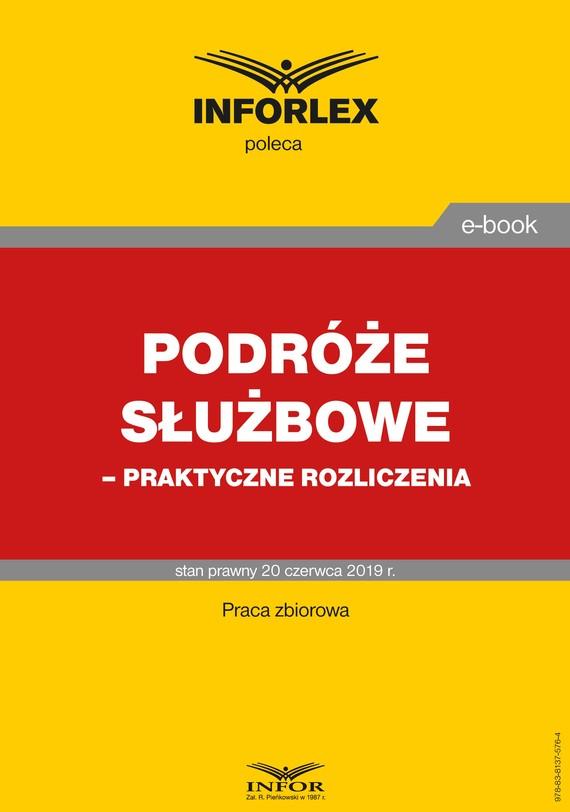 okładka Podróże służbowe – praktyczne rozliczeniaebook | pdf | praca  zbiorowa