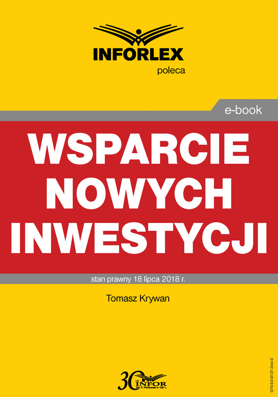 okładka Wsparcie nowych inwestycjiebook | pdf | Tomasz Krywan