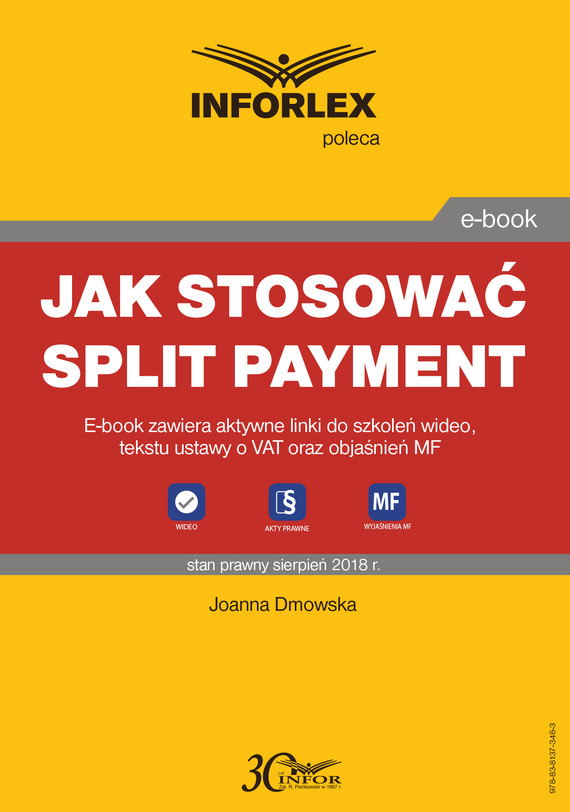 okładka Jak stosować split payment, Ebook   Joanna Dmowska