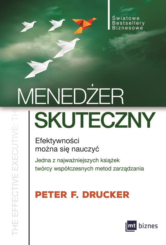 okładka Menedżer skutecznyebook | epub, mobi | Peter F. Drucker