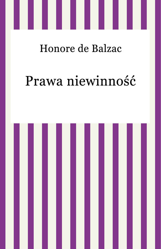 okładka Prawa niewinność, Ebook | Honore De Balzac