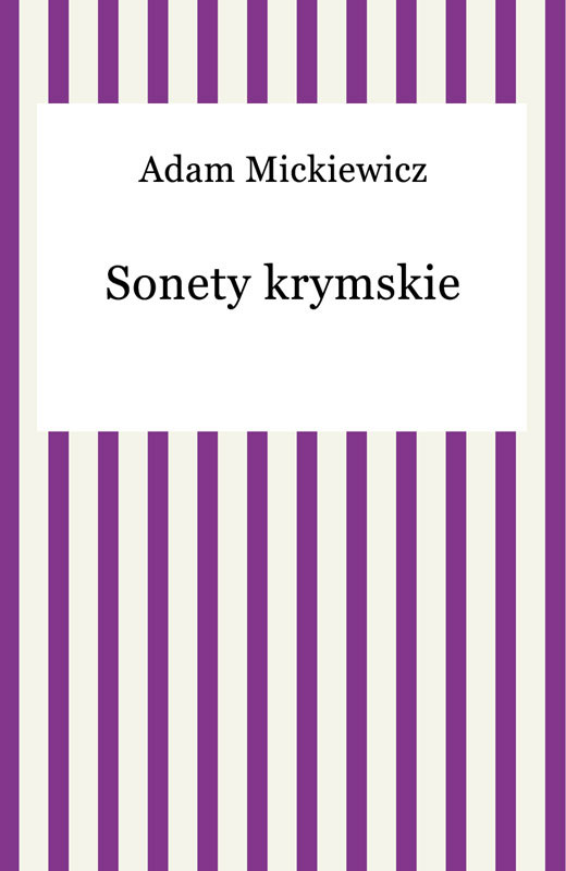 okładka Sonety krymskieebook | epub, mobi | Adam Mickiewicz