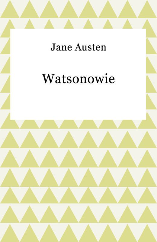okładka Watsonowieebook | epub, mobi | Jane Austen
