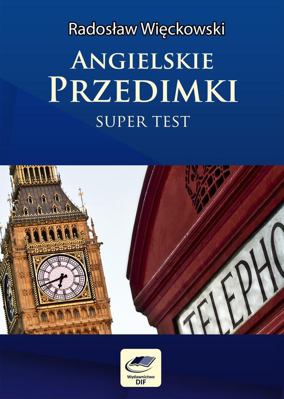 okładka Angielskie przedimki - Super Test, Ebook | Radosław Więckowski